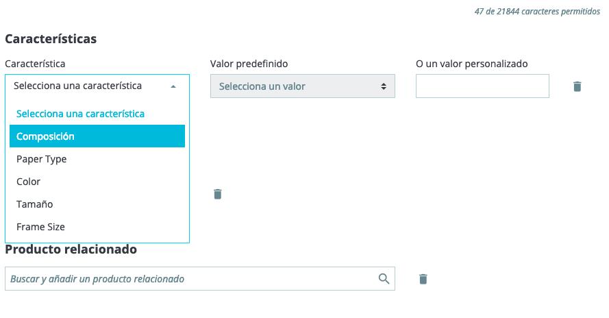 Crear productos en Prestashop 1.7 17