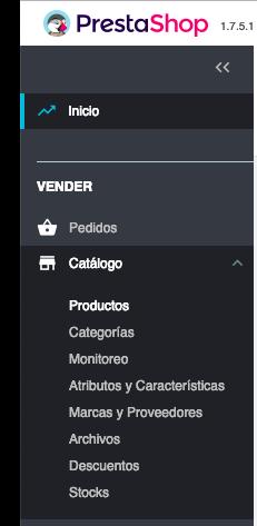 Crear productos en Prestashop 1.7 1