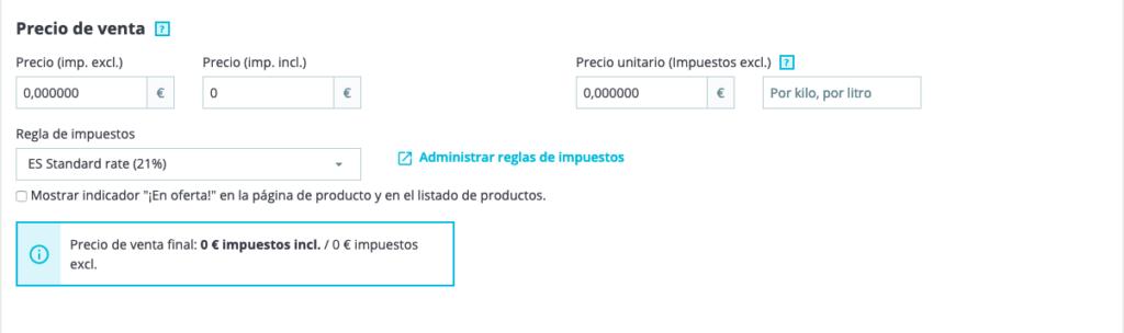 Crear productos en Prestashop 1.7 31