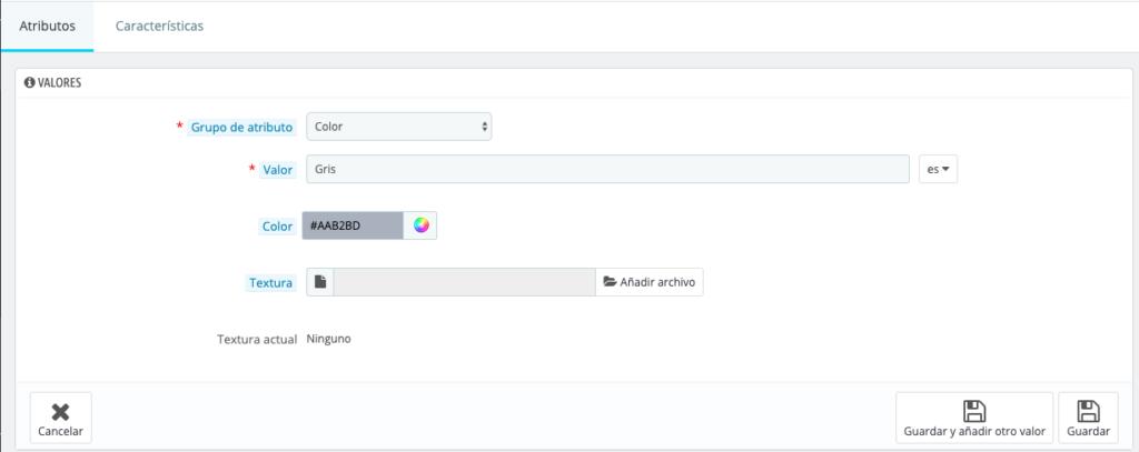 Crear productos con combinaciones en Prestashop 1.7 8
