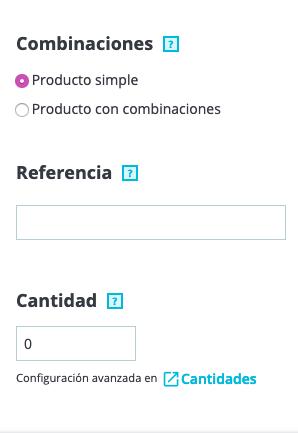 Crear productos en Prestashop 1.7 8